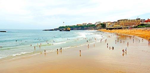 Prendre un bain dans les plages du Pays Basque